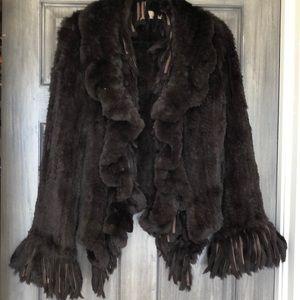 Gorgeous chocolate brown fur jacket